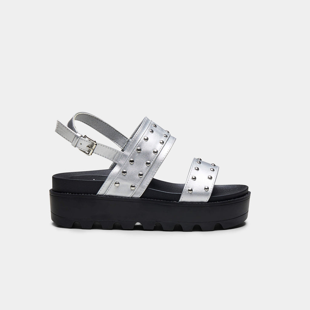 SOLITUDE Studded Strap Chunky Sliders