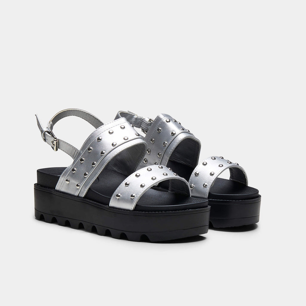 SOLITUDE Studded Strap Chunky Sliders view 3