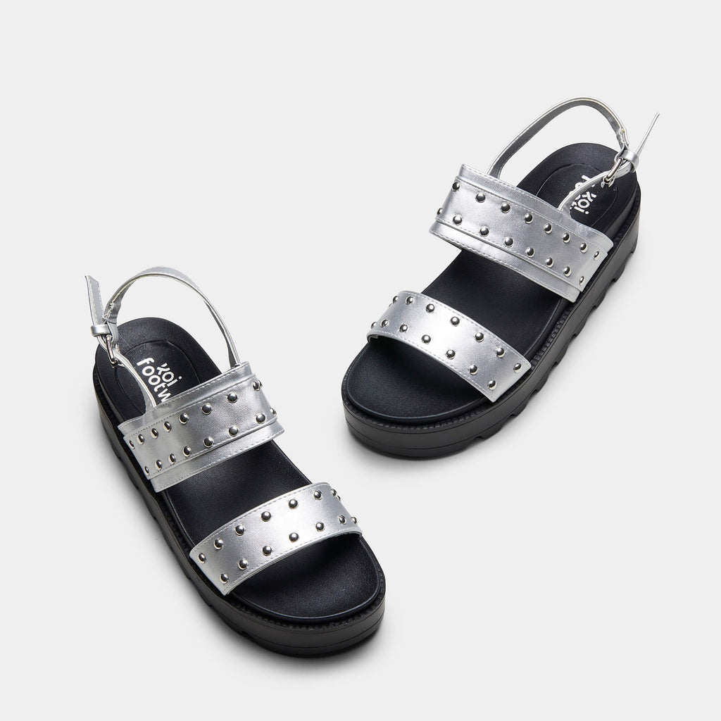 SOLITUDE Studded Strap Chunky Sliders view 2