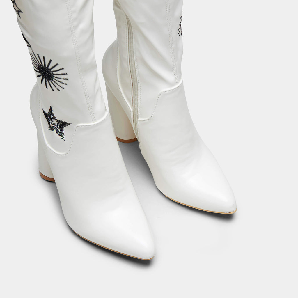 ASTRID Star and Moon Long Boots view 4