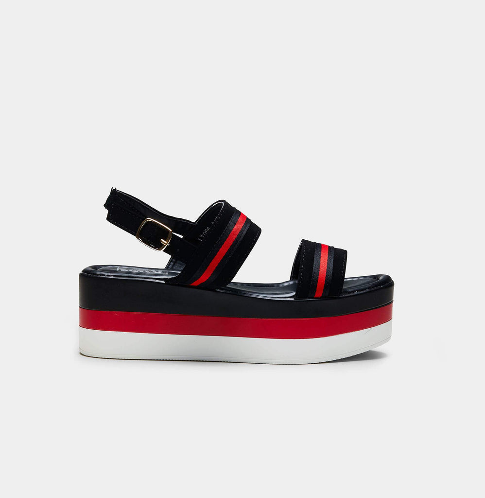 GLADE Striped Chunky Flatform Sandals view 2