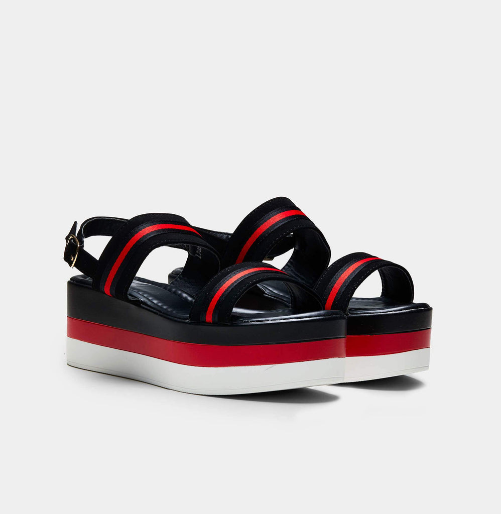 GLADE Striped Chunky Flatform Sandals view 5