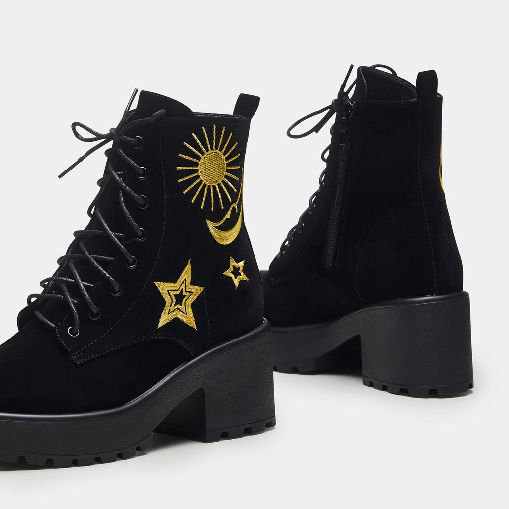 ASTRO Star and Moon Chunky Boots view 4