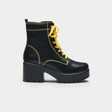 KITANA Yellow Laced Boots