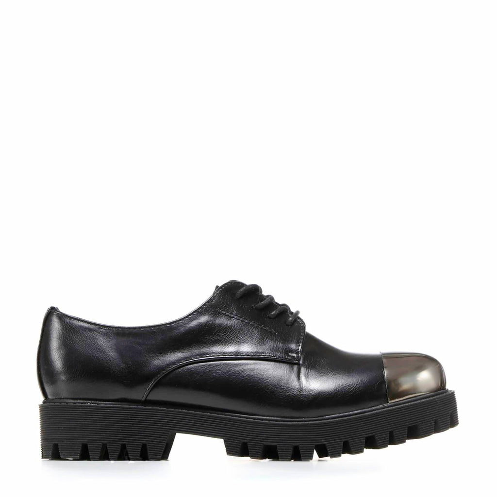Silver Toe Cap Lace up Derby Shoes view main view