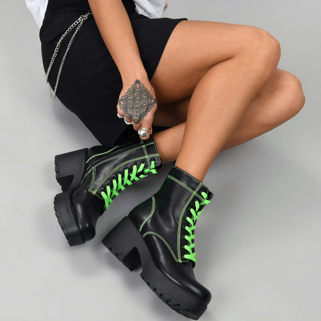 KITANA Green Laced Boots view 4