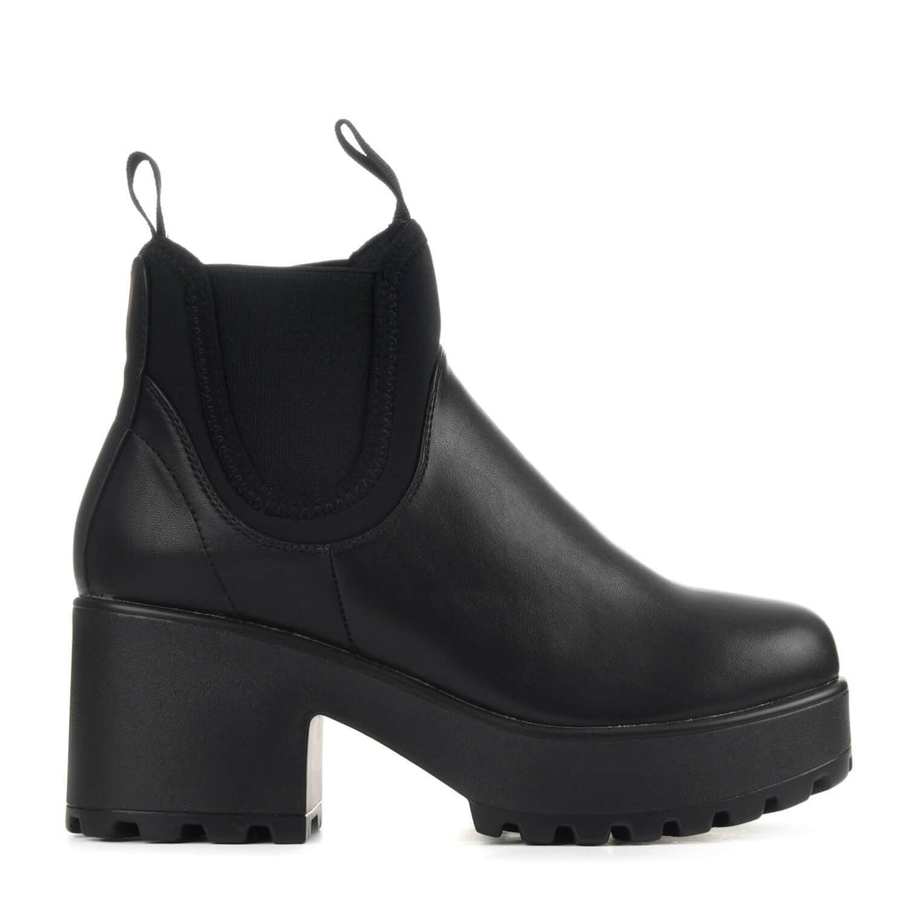 NERO Lycra Panel Chunky Chelsea Boots