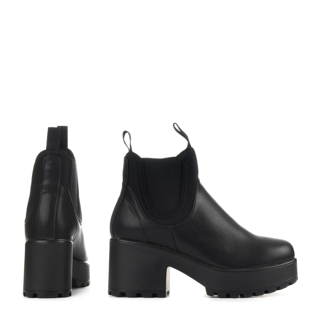 NERO Lycra Panel Chunky Chelsea Boots view 4