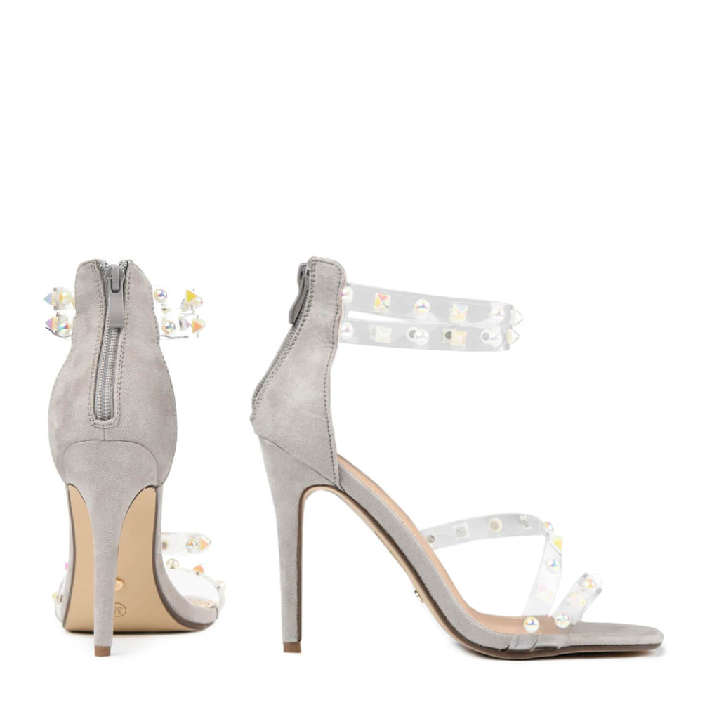 LING Perspex Studded Strap Sandal view 5