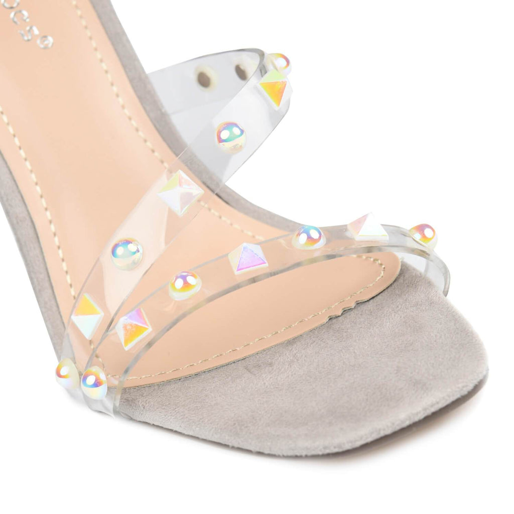 LING Perspex Studded Strap Sandal view 4