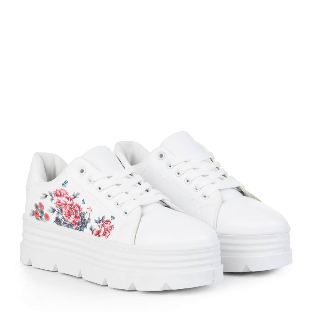 AELA Floral Chunky Trainers view 2