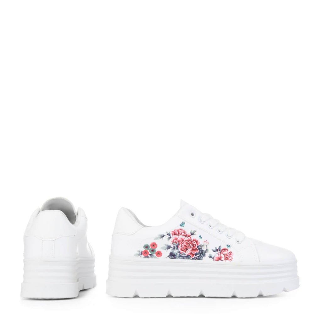 AELA Floral Chunky Trainers view 4