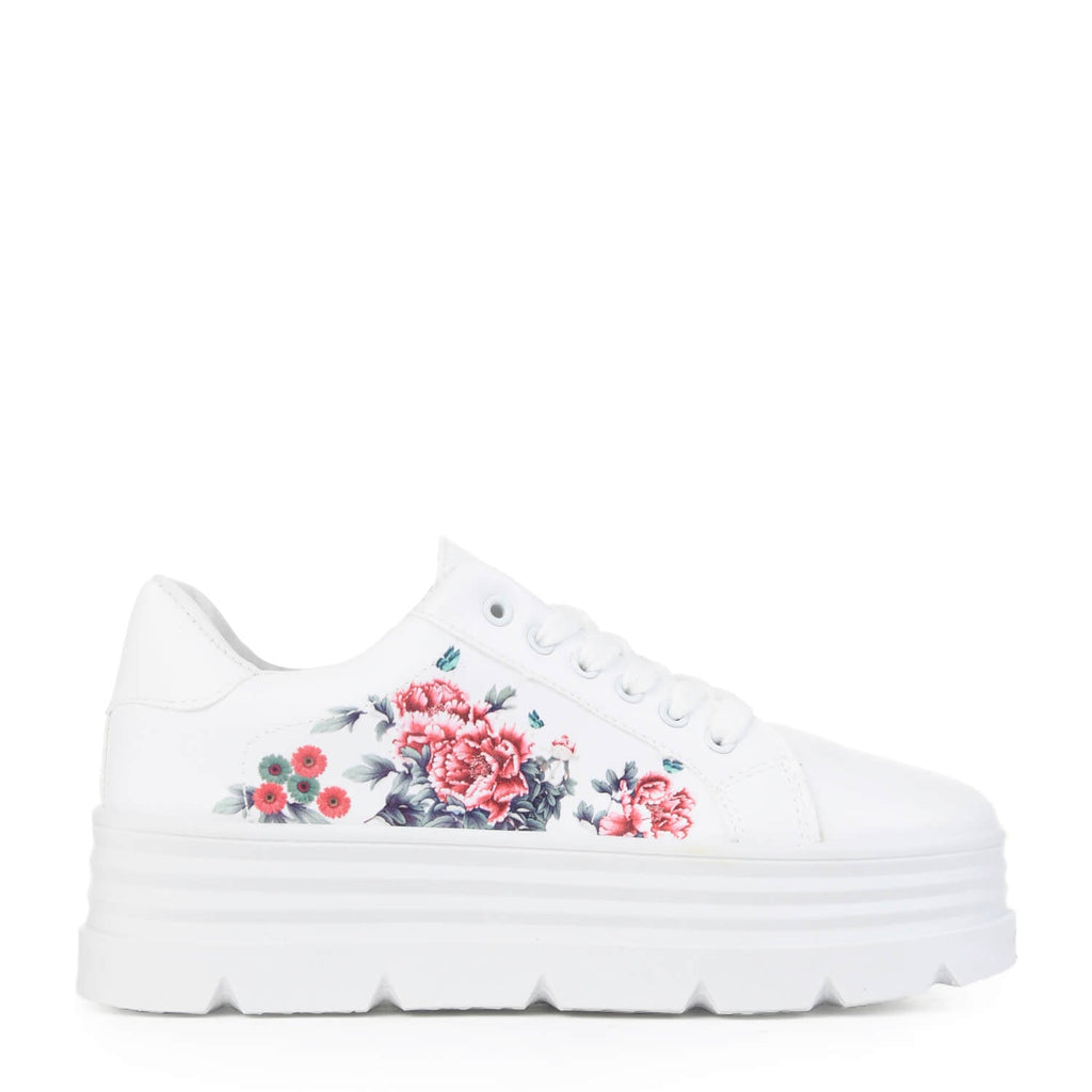 AELA Floral Chunky Trainers