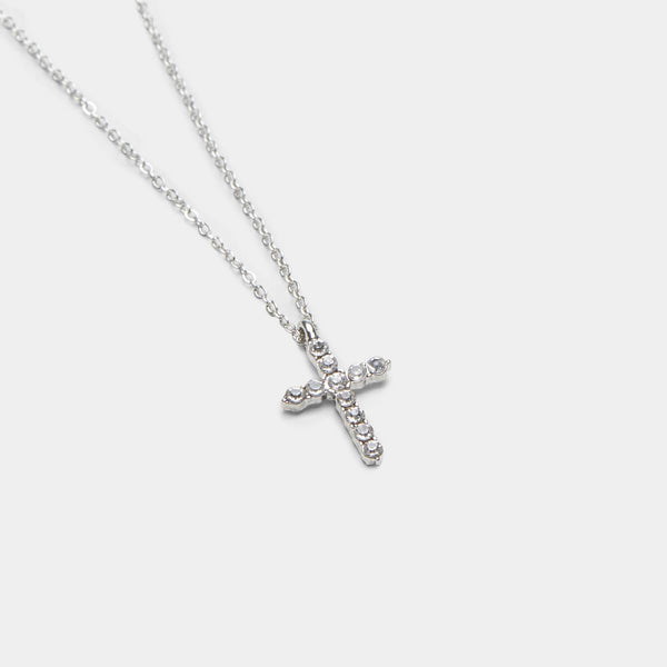 Silver Angels Cross Necklace 1