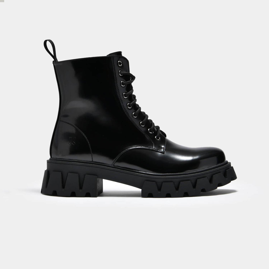 KOI Footwear Bright Shadow Men's Cyber Boots Vegan Mens Biker Boots