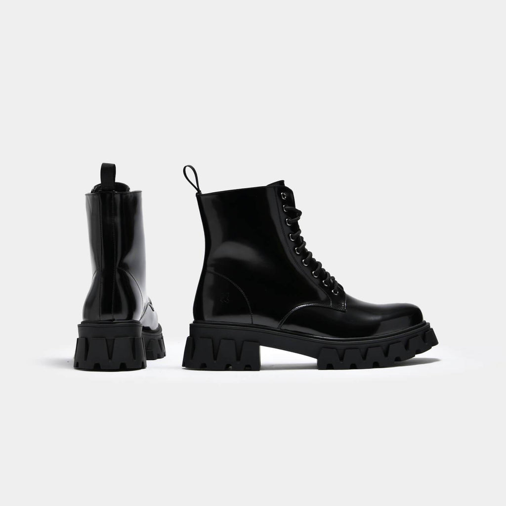 KOI Footwear Bright Shadow Men's Cyber Boots Vegan Mens Biker Boots view 3