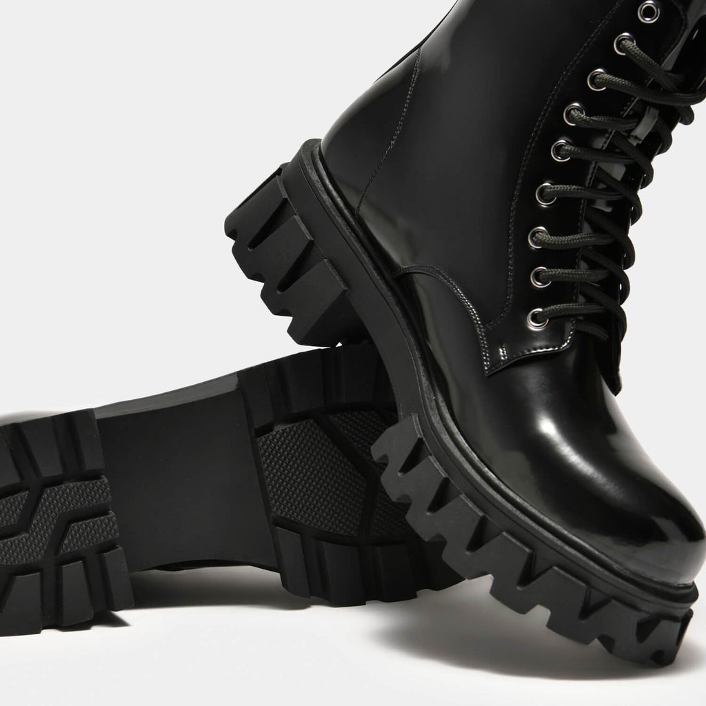 KOI Footwear Bright Shadow Men's Cyber Boots Vegan Mens Biker Boots view 5