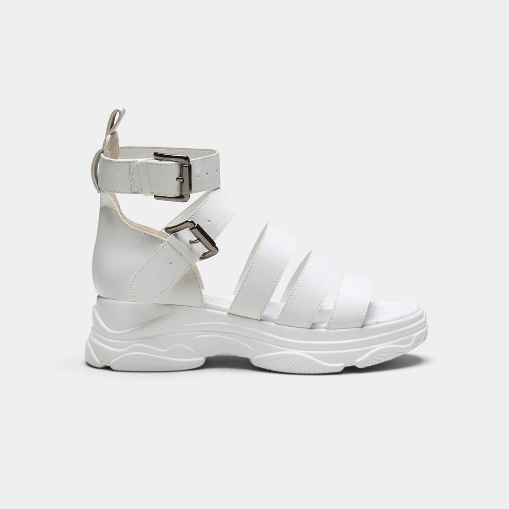 KOI Footwear OSIRIS Classic White Trainer Sandals Vegan Chunky Sandals view main view