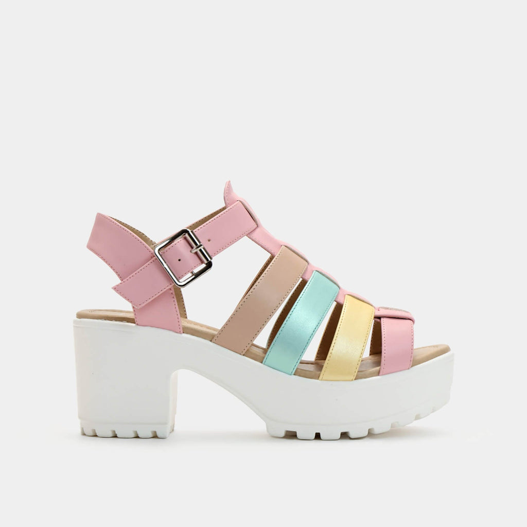 Dreamhorserecords Footwear SII Strappy Kawaii Cleated Sandals Vegan Strappy Sandals view 5