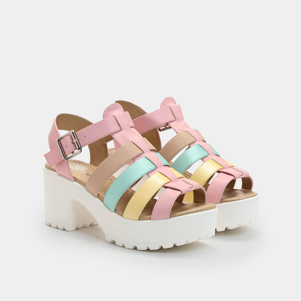 Dreamhorserecords Footwear SII Strappy Kawaii Cleated Sandals Vegan Strappy Sandals view 2