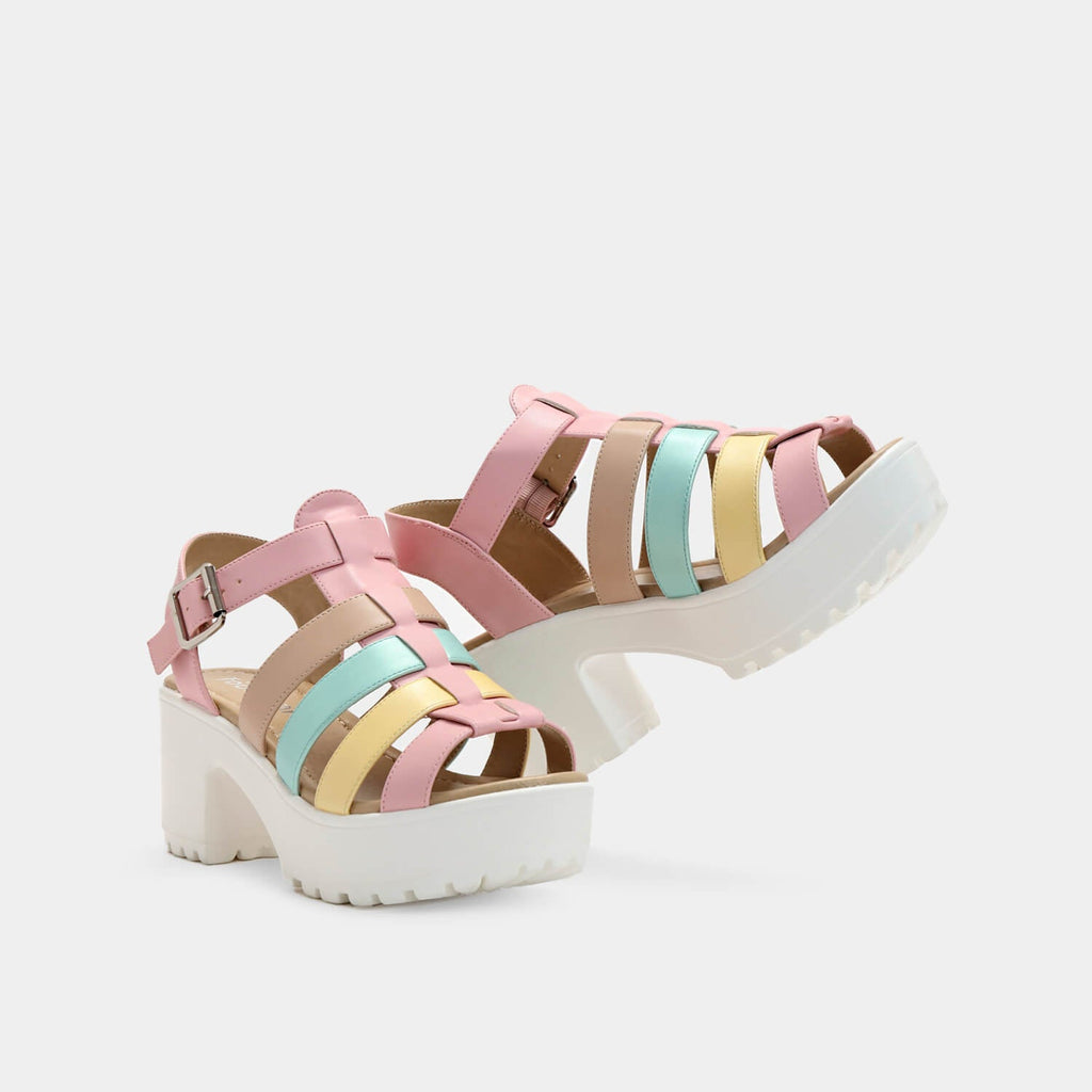 Dreamhorserecords Footwear SII Strappy Kawaii Cleated Sandals Vegan Strappy Sandals view main view