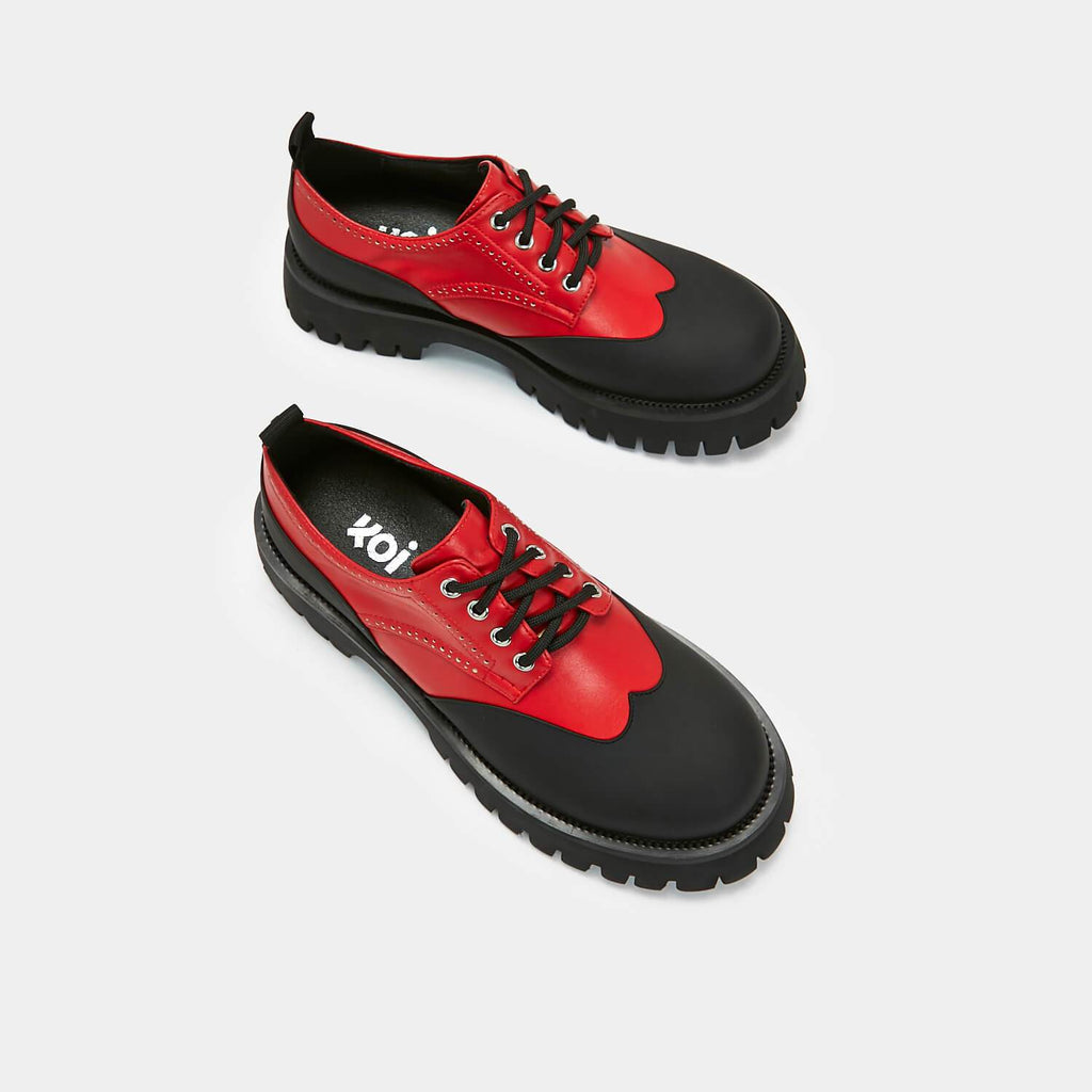 ZODY Footwear Dark Skies Brogues Vegan Derby Shoes view 4