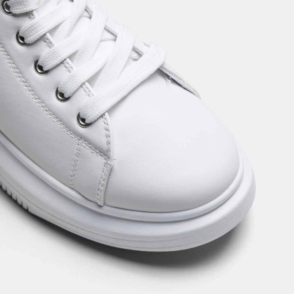 White PRETA High Top Sleek Trainers 4 view 4