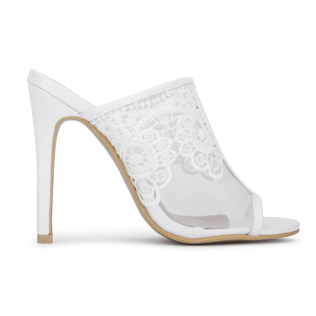 MYRA Embroidered Lace Mules