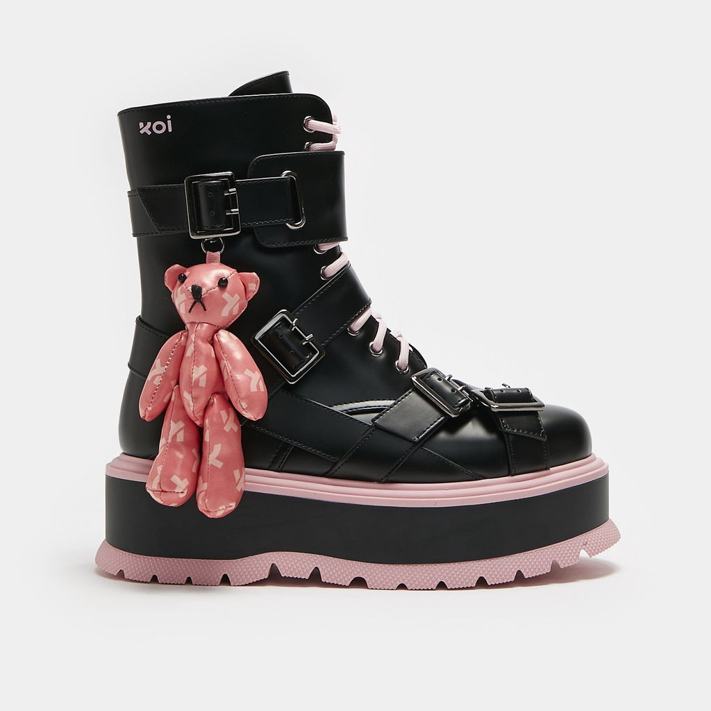 ZODY Footwear Friend From My Dreams Teddy Bear Boots Vegan Platform Boots view 7
