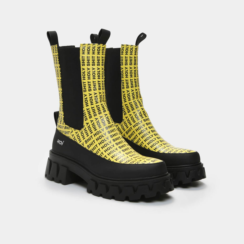 ZODY Footwear Holy Shit Men's Yellow Chelsea Boots Vegan Chelsea Boots view 6