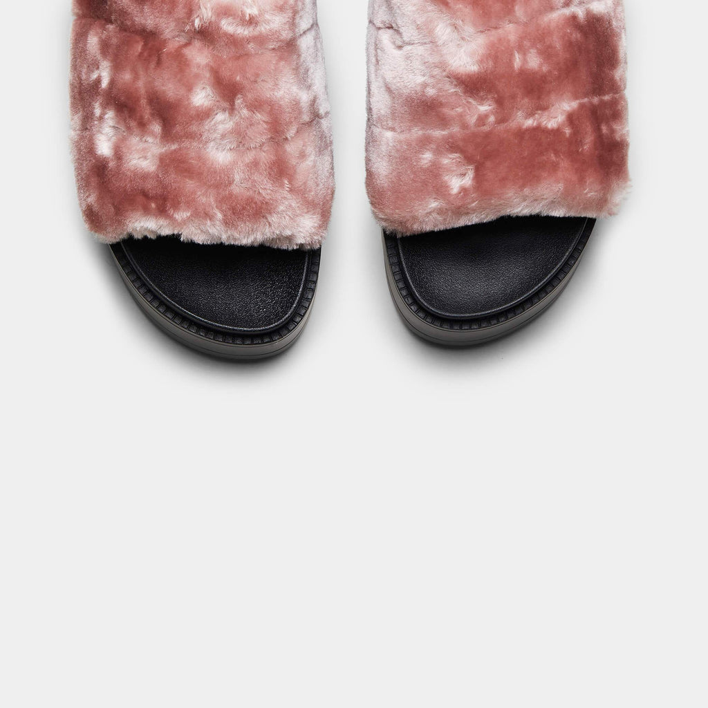 VAULT Slingback Plush Fur Sliders view 4