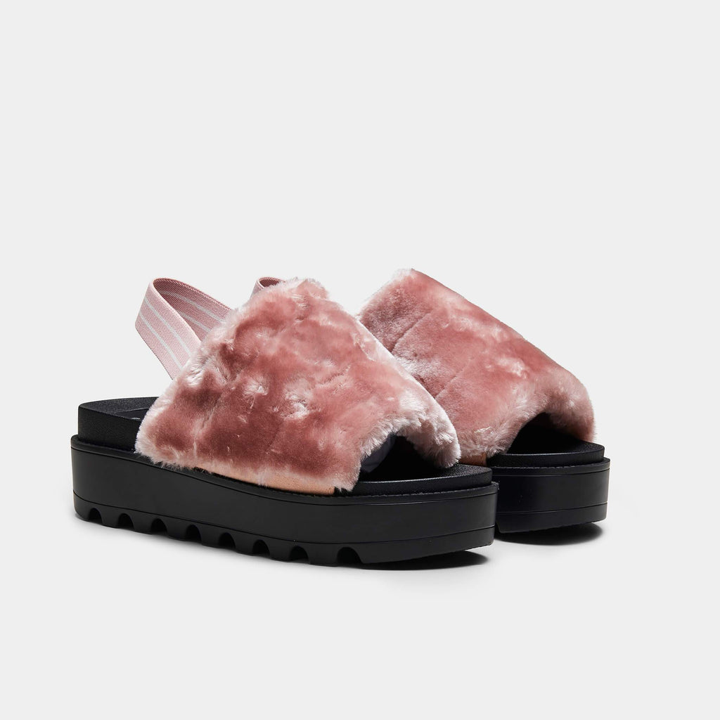 VAULT Slingback Plush Fur Sliders view 3