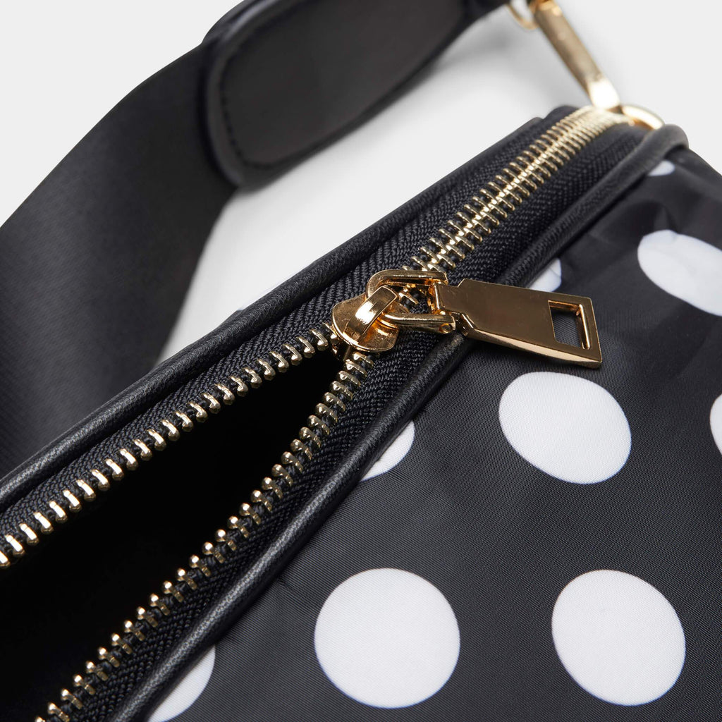 Black Itsy Bitsy Black Polka Dot Bag 3 view 2