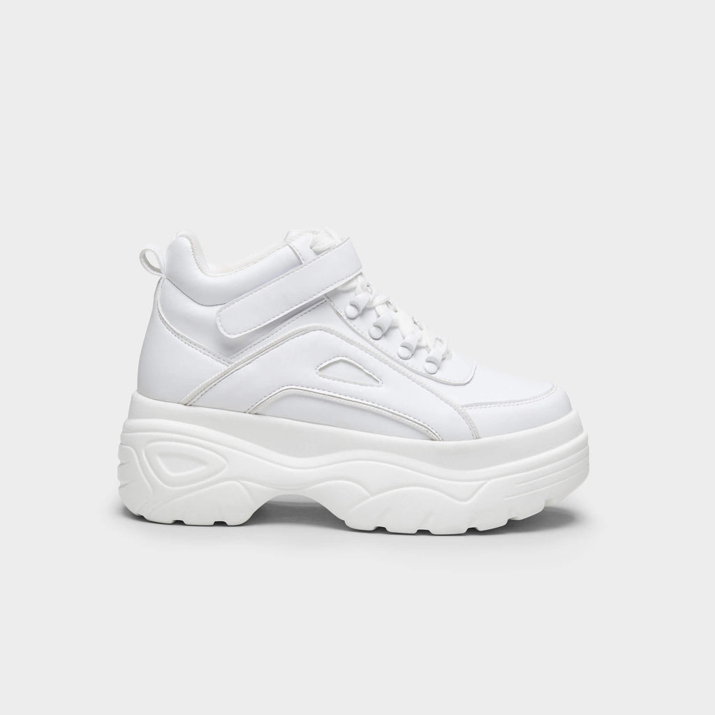 White MITZU Chunky Bubble High Top Trainers 1
