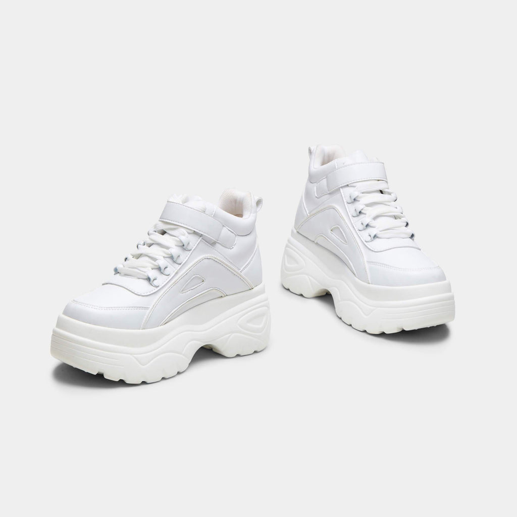 White MITZU Chunky Bubble High Top Trainers 4 view 4
