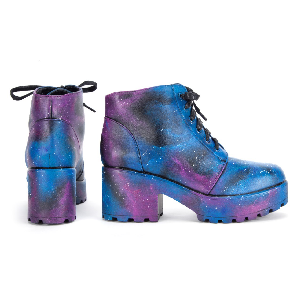 Hand Painted Exclusive Galaxy Boots view 3