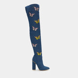 Butterfly Effect Denim Long Boots