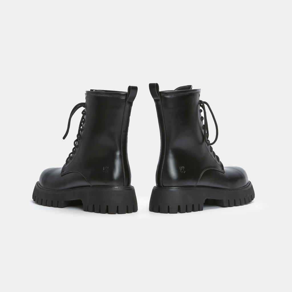 KOI Footwear Mania Men's Steel Toe Cap Boots Vegan Mens Chunky Boots view 3