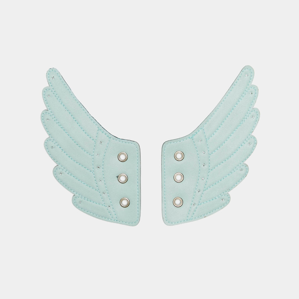 KOI Footwear Attachable Green Angel Wings view main view