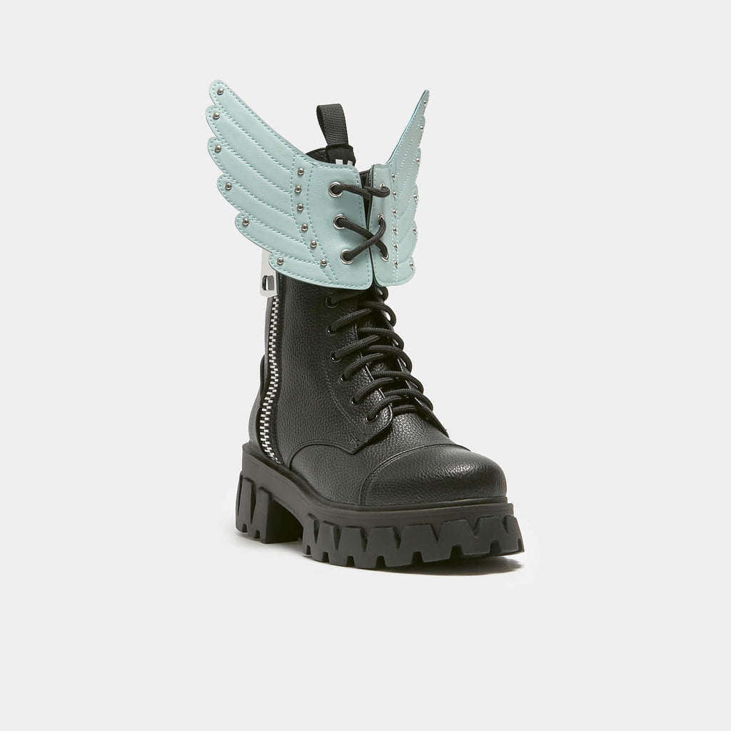 KOI Footwear Attachable Green Angel Wings view 2