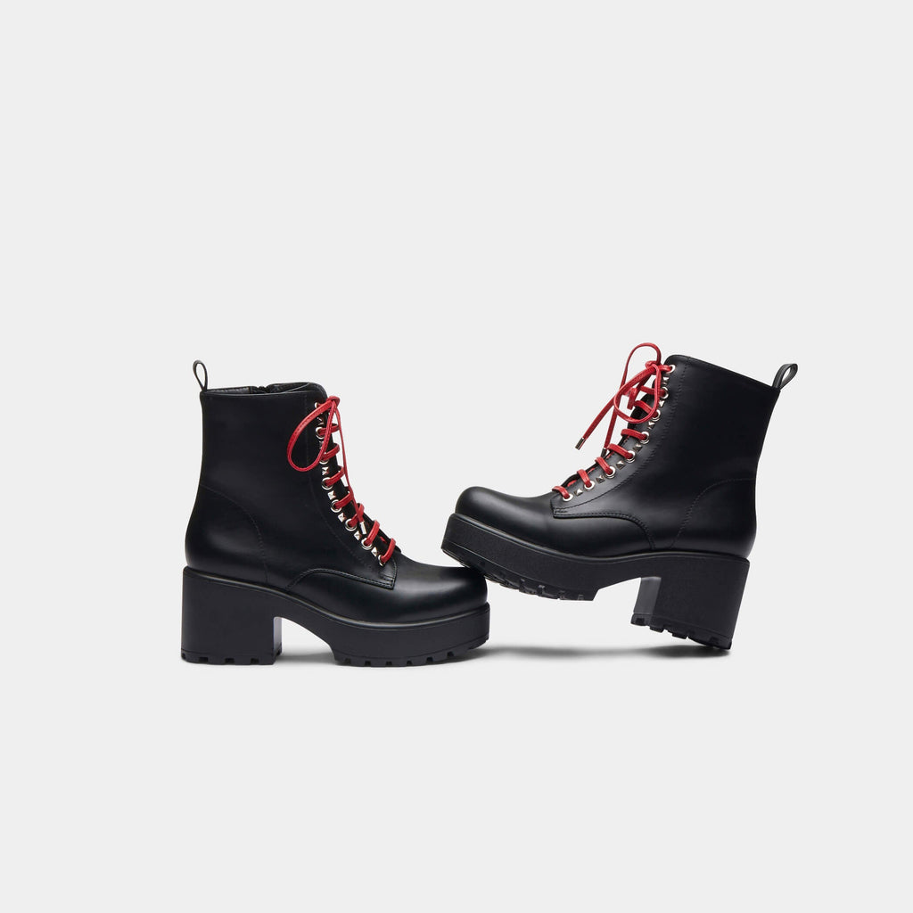 ZODY Footwear Duke Lace Up Boot Vegan Chunky Boots