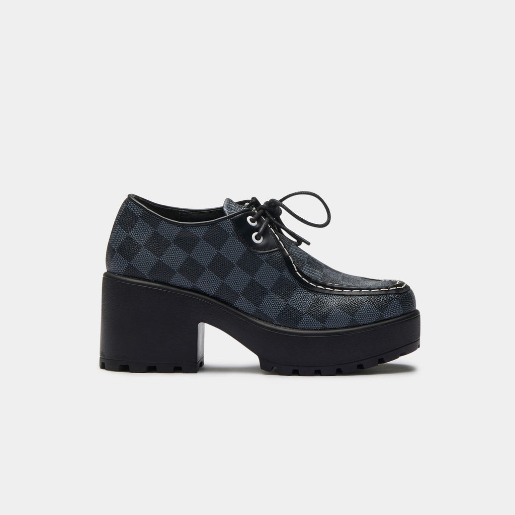 KOI Footwear Amii Checkered Chunky Shoe Vegan Chunky Platform Shoes