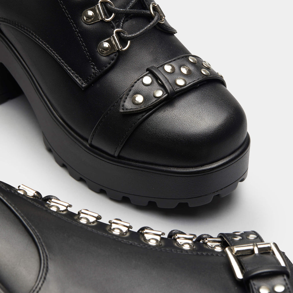 KOI Footwear Sora Studded Chunky Boots Vegan Chunky Boots view 5