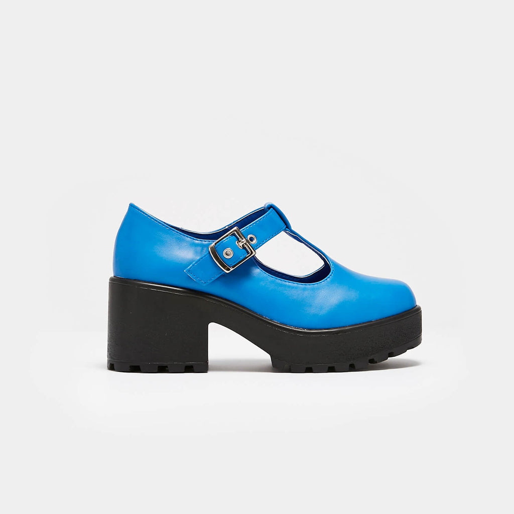 KOI Footwear Sai Blue Mary Junes Vegan Colourful Mary Janes view 2