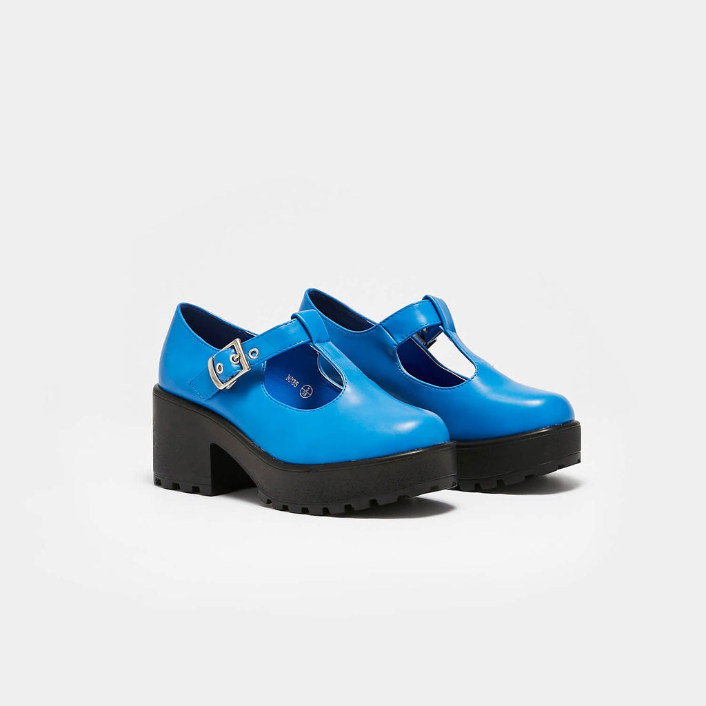 KOI Footwear Sai Blue Mary Junes Vegan Colourful Mary Janes view 3