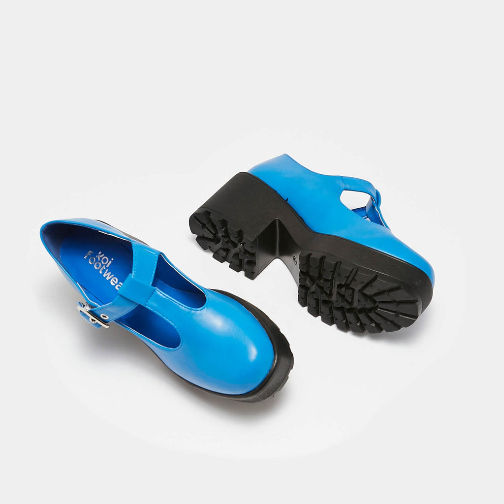 KOI Footwear Sai Blue Mary Junes Vegan Colourful Mary Janes view 5