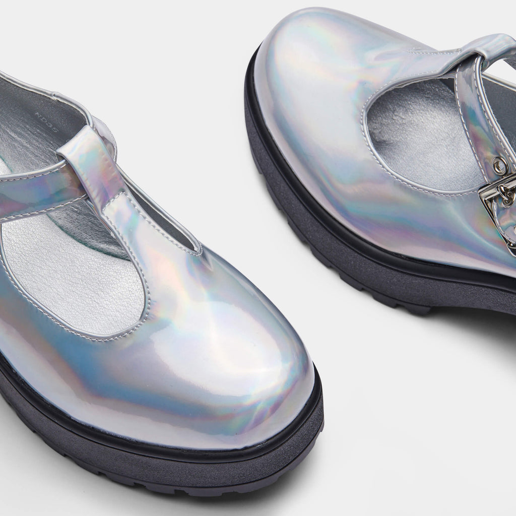 Silver SAI Hologram Mary Janes 4 view 4