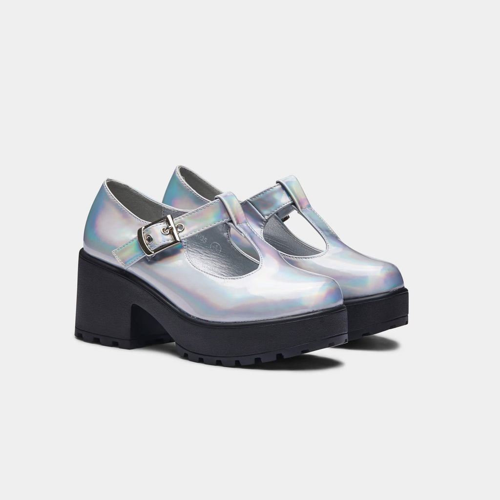 Silver SAI Hologram Mary Janes 3 view 3