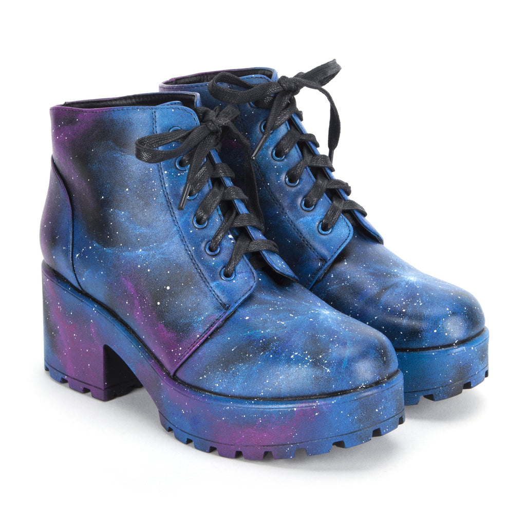 Hand Painted Exclusive Galaxy Boots view 2