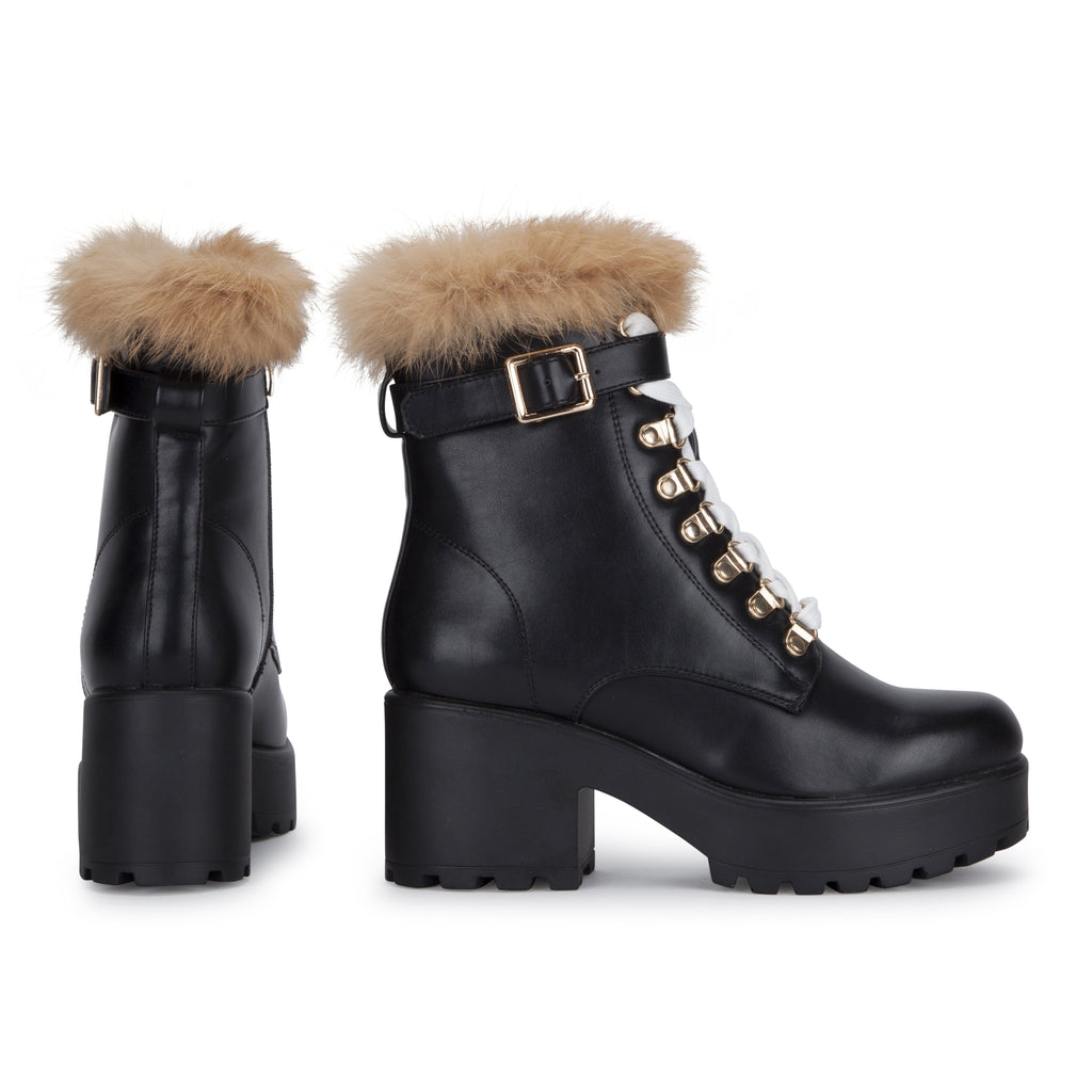 NOMAD Fur Chunky Boots view 3